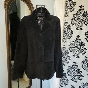 Brandon Thomas black suede jacket